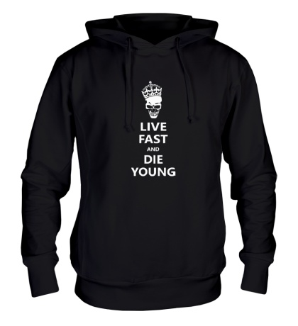 Толстовка с капюшоном Live fast die young
