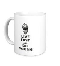 Керамическая кружка Live fast die young