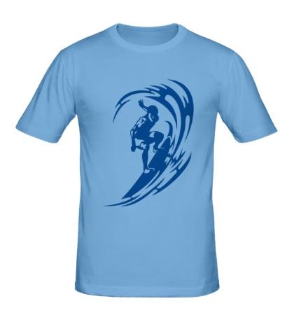 Мужская футболка Веселый серфинг