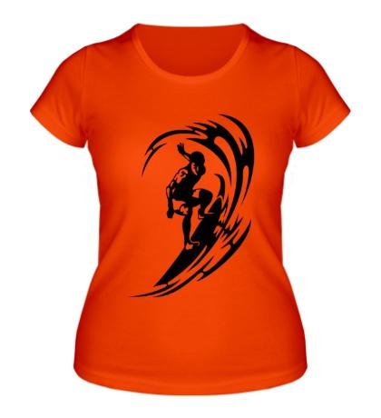 Женская футболка Веселый серфинг