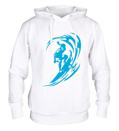 Толстовка с капюшоном Веселый серфинг