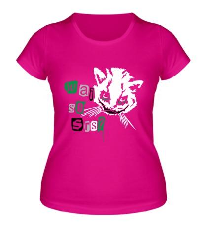 Женская футболка Кот Джокер