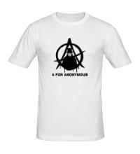 Мужская футболка A for anonimous