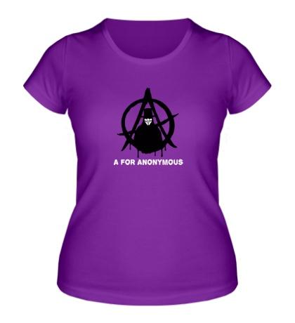 Женская футболка A for anonimous