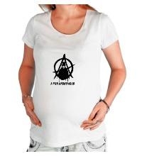 Футболка для беременной A for anonimous