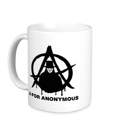 Керамическая кружка A for anonimous