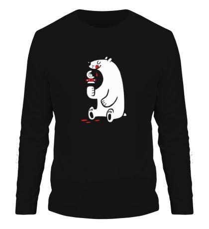 Мужской лонгслив Медведь ест эскимоса