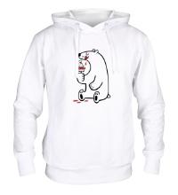 Толстовка с капюшоном Медведь ест эскимоса