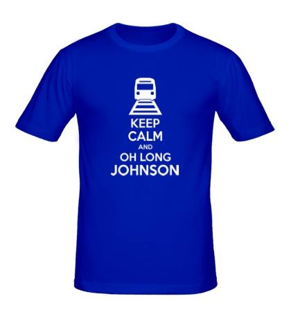 Мужская футболка Keep calm and oh long johnson