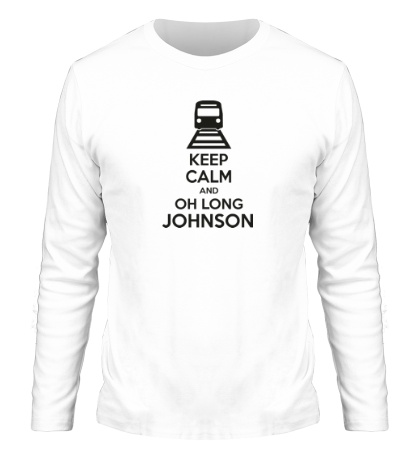 Мужской лонгслив Keep calm and oh long johnson