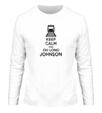 Мужской лонгслив Keep calm and oh long johnson