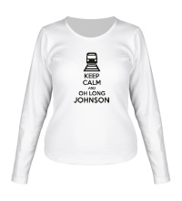 Женский лонгслив Keep calm and oh long johnson