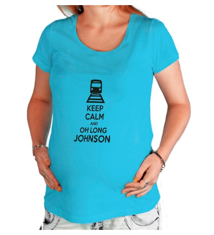 Футболка для беременной Keep calm and oh long johnson
