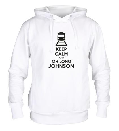 Толстовка с капюшоном Keep calm and oh long johnson
