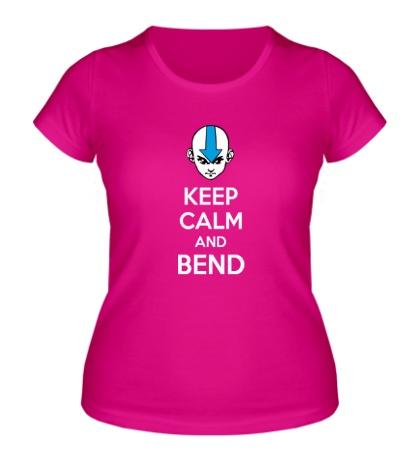 Женская футболка Keep calm and band