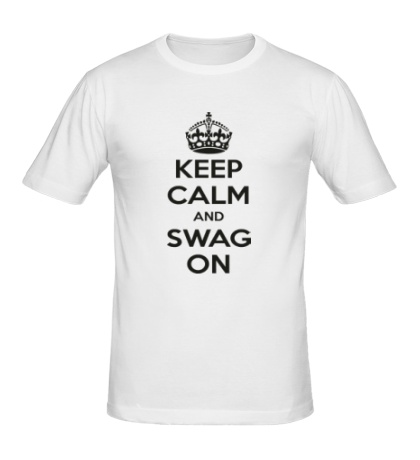 Мужская футболка Keep Calm & Swag On