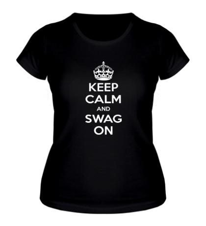 Женская футболка Keep Calm & Swag On