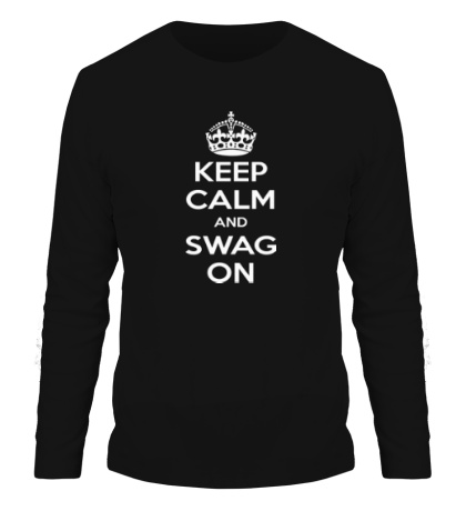 Мужской лонгслив Keep Calm & Swag On