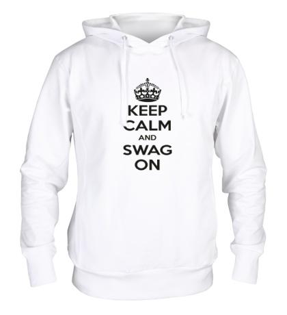Толстовка с капюшоном Keep Calm & Swag On