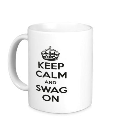 Керамическая кружка Keep Calm & Swag On