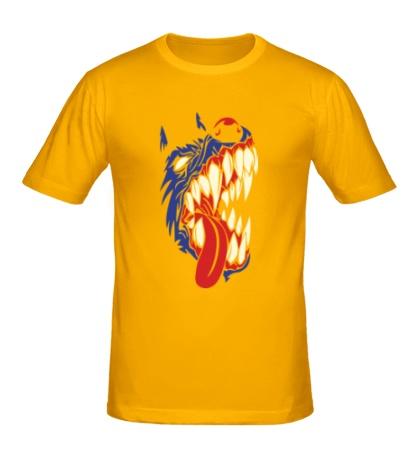 Мужская футболка Злая собака, свет
