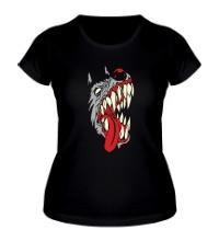 Женская футболка Злая собака, свет