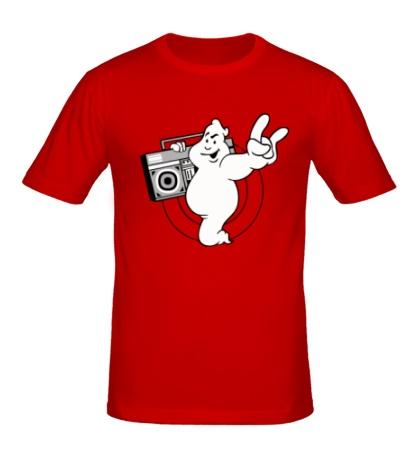 Мужская футболка Привидение с магнитофоном