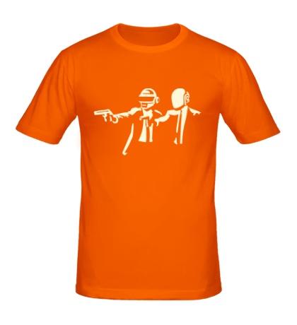 Мужская футболка Daft Punk Boys Glow
