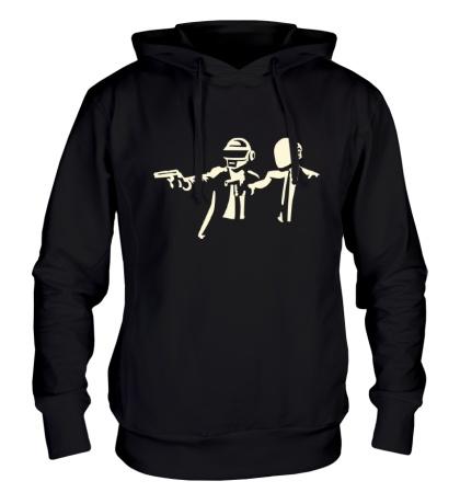 Толстовка с капюшоном Daft Punk Boys Glow
