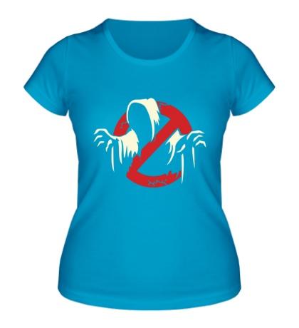 Женская футболка Привидение glow