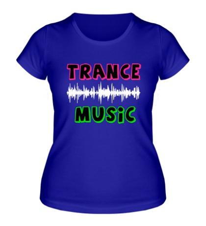 Женская футболка Trance music