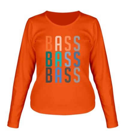 Женский лонгслив Triple Bass