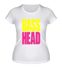 Женская футболка Bass head