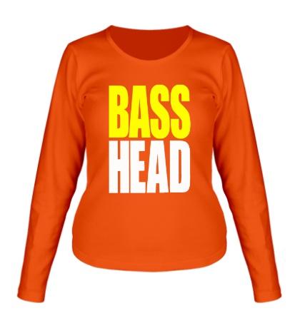 Женский лонгслив Bass head