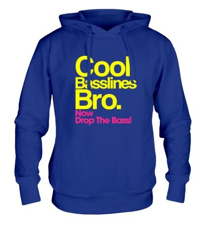 Толстовка с капюшоном Cool baseline bro