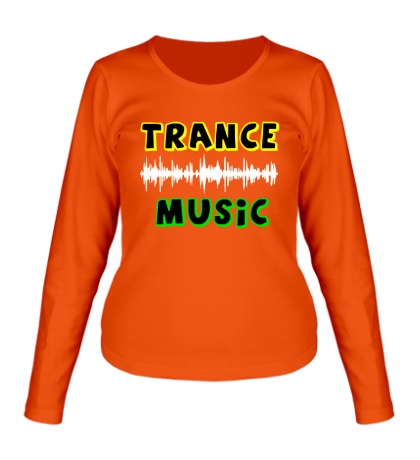 Женский лонгслив Trance music