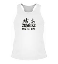Мужская борцовка Zombies hate fast food