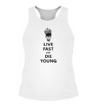 Мужская борцовка Live fast die young
