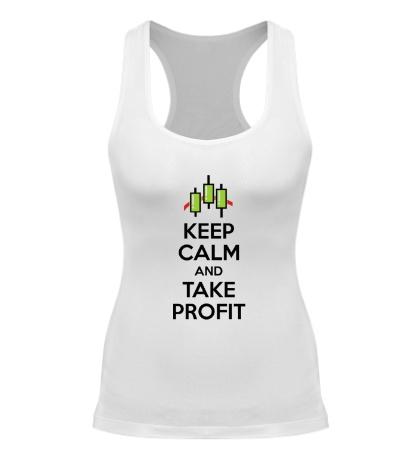 Женская борцовка Keep calm and take profit