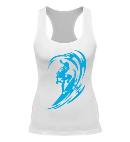 Женская борцовка Веселый серфинг