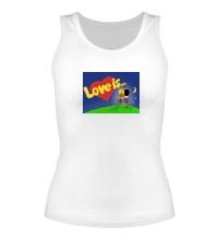 Женская майка Love is...
