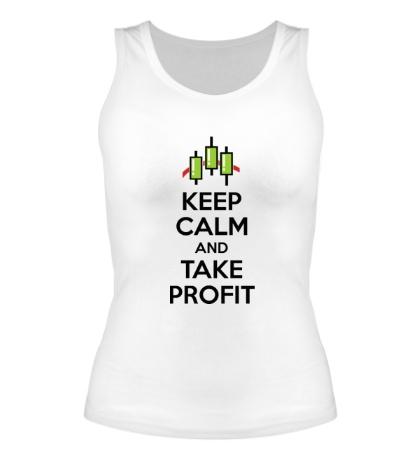 Женская майка Keep calm and take profit