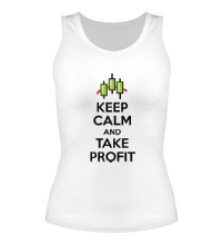 Женская майка Keep calm and take profit