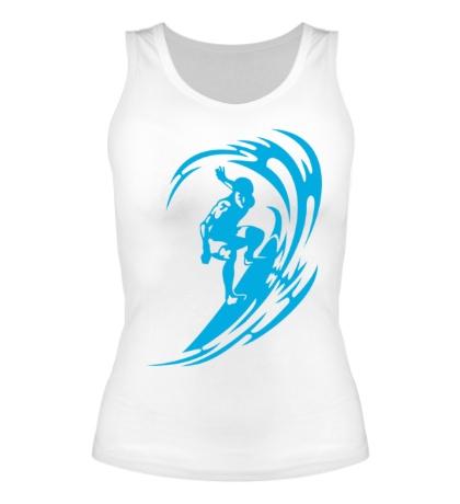 Женская майка Веселый серфинг