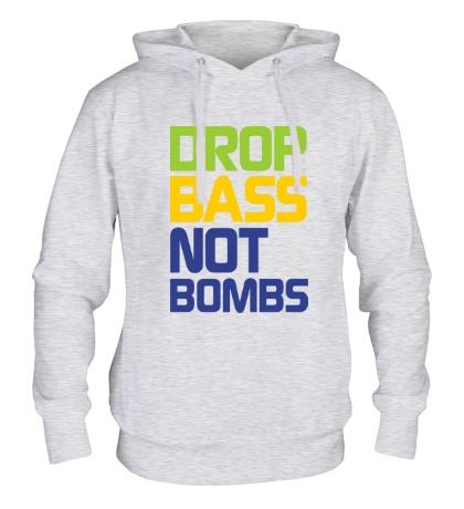 Толстовка с капюшоном Drop bass not bomb