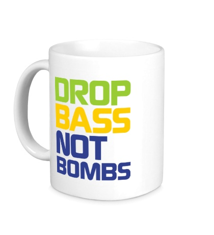Керамическая кружка Drop bass not bomb