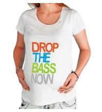 Футболка для беременной Drop the bass now