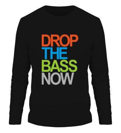 Мужской лонгслив Drop the bass now