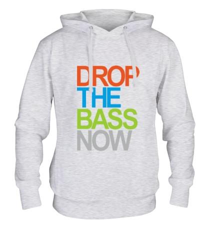 Толстовка с капюшоном Drop the bass now