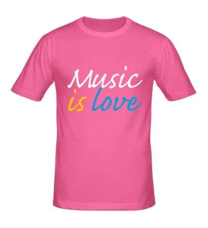 Мужская футболка Music is love